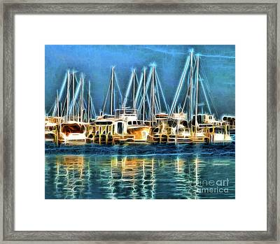 Framed Print featuring the photograph Boats by Clare VanderVeen
