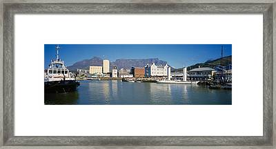 Boats Docked At A Harbor, Cape Town Framed Print by Panoramic Images