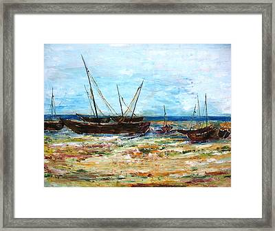 Boats Framed Print by Doris Cohen