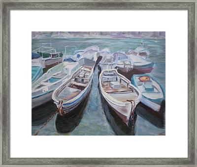 Boats Framed Print by Elena Sokolova