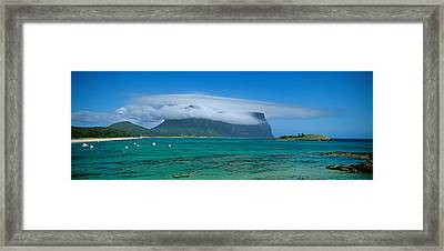 Boats Floating In The Sea, Lord Howe Framed Print