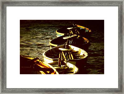 Boats In A Line Framed Print