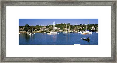 Boats In An Ocean, Provincetown, Cape Framed Print by Panoramic Images