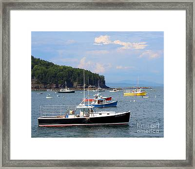 Boats In Bar Harbor Framed Print