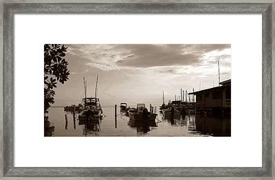 Boats In Cabo Rojo Framed Print by Estefan Gargost