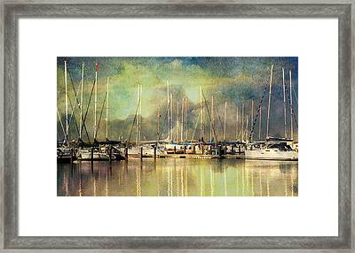 Boats In Harbour Framed Print