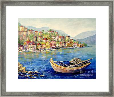 Boats In Italy Framed Print