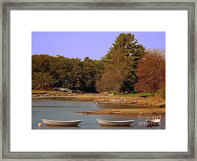 Framed Print featuring the photograph Boats In Kennebunkport by Gena Weiser