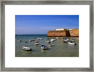 Boat's In Malta Hot Sun Framed Print