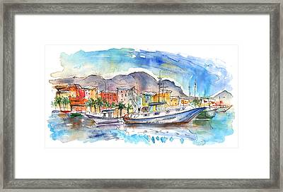 Boats In Porticello 04 Framed Print by Miki De Goodaboom