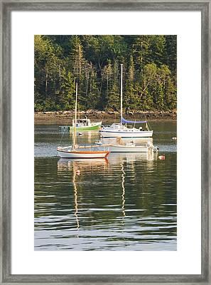 boats In Tenants Harbor Maine Framed Print