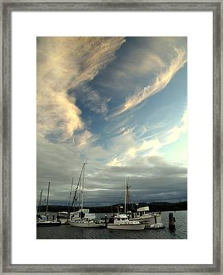 Framed Print featuring the photograph Boats In The Breeze by Suzy Piatt