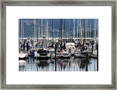 Boats In The Harbor Puget Sound Washington Framed Print by Tom Janca