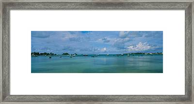 Boats In The Sea, Mangrove Bay, Sandys Framed Print by Panoramic Images