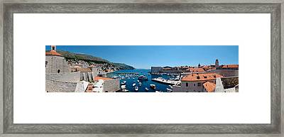 Boats In The Sea, Ui Sv Dominika Framed Print by Panoramic Images