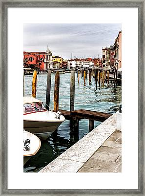 Boats In Venice Framed Print