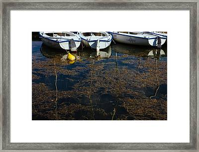 Boats In Water Framed Print by Pati Photography