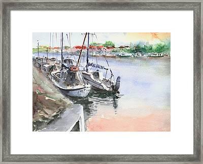 Boats Inshore Framed Print by Faruk Koksal