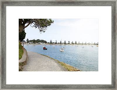 Boats Framed Print by Les Cunliffe