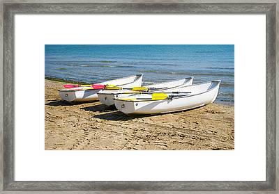 Boats Framed Print by Milena Ilieva