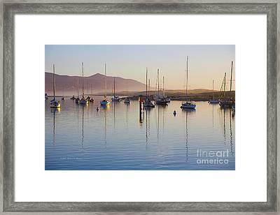Boats Mooring Framed Print