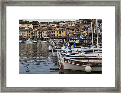 South Of France Harbor Framed Print