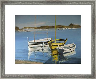 boats of Cadaques Framed Print by Clive Holden