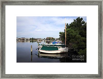 Boats Of Long Beach Island Color Framed Print by John Rizzuto