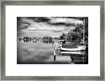 Boats Of Long Beach Island Framed Print by John Rizzuto