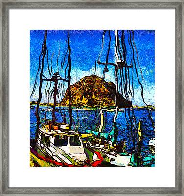 Boats Of Morro Bay Framed Print by Barbara Snyder
