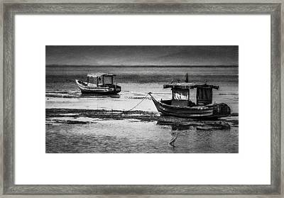 Boats Of Trinidad Framed Print