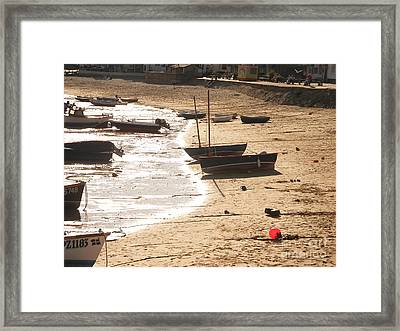 Boats On Beach 02 Framed Print by Pixel  Chimp