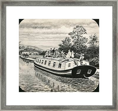 Boats On Erie Canal Framed Print