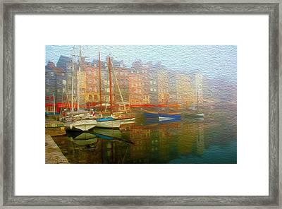 Boats On Fog. Framed Print by Carlos Villegas