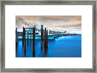 Boats On Glass II - Outer Banks Framed Print by Dan Carmichael
