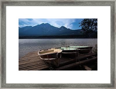 Boats On Pyramid Lake Framed Print