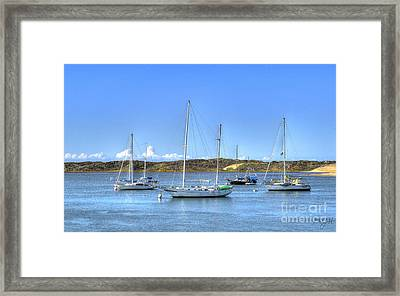 Boats On The Bay Framed Print