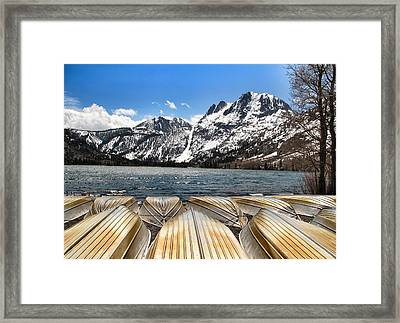 Boats On The Shore Framed Print by Edward Hamm