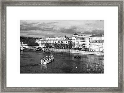 Boats On The Vltava Framed Print