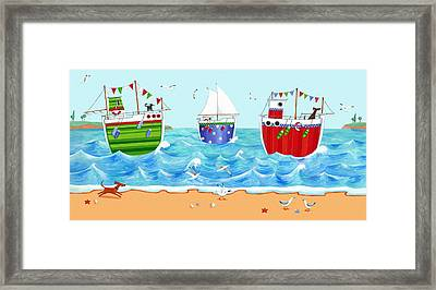 Boats Framed Print by Peter Adderley