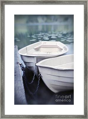 Boats Framed Print by Priska Wettstein