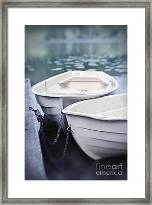 Boats Framed Print by Priska Wettstein