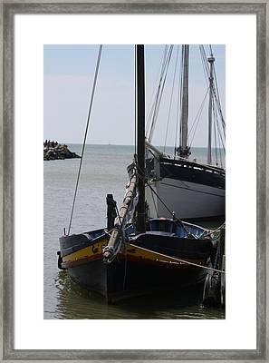 Boats Resting Framed Print by Phoenix De Vries