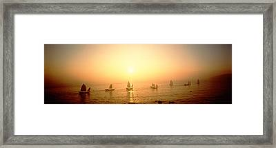 Boats Shantou China Framed Print by Panoramic Images