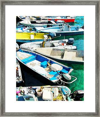 Boats Tied Up Framed Print