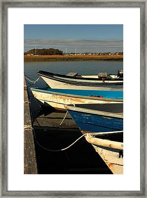 Framed Print featuring the photograph Boats Waiting by Amazing Jules