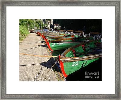 Framed Print featuring the photograph Boats Waiting For Kids by Doc Braham