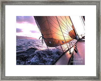 Boats Wing  Framed Print by Boon Mee