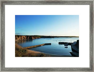 Boatstrand Harbour In The Copper Coast Framed Print