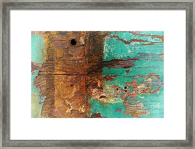 Boatyard Abstract 6 Framed Print